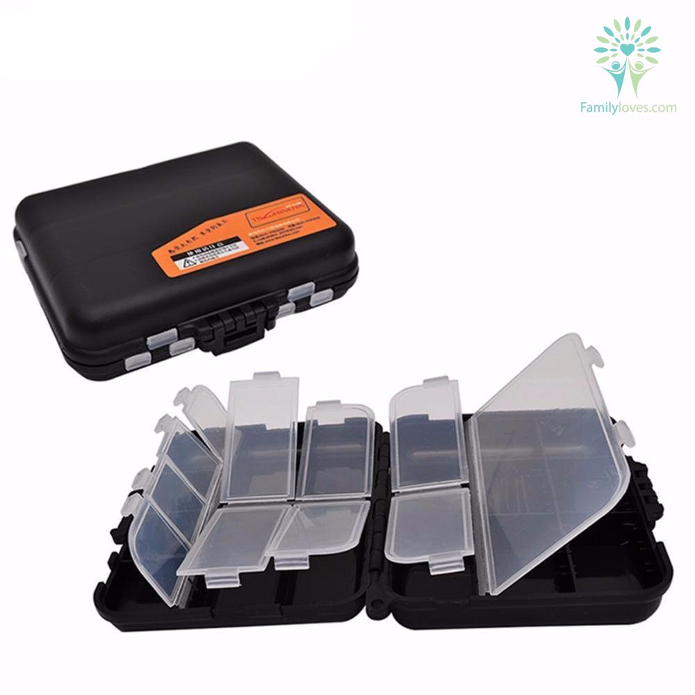Double Layer Hard Plastic Fishing Tackle Storage Box Lure Accessories Box Familyloves Com