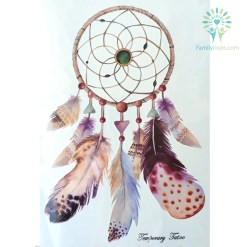 Dreamcatcher With Big Feathers Hot Temporary Tattoo Stickers 21 X 15 CM %tag familyloves.com
