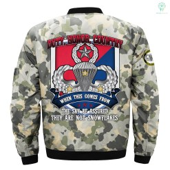 Duty, honor, country when this comes from the sky... U.S. Army Paratrooper- print jacket %tag familyloves.com