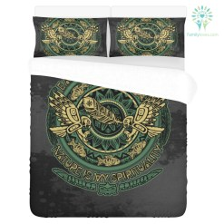 Earth is my church natural is spirituality 3-Piece Bedding Set 1 Duvet Cover 2 Pillowcases %tag familyloves.com