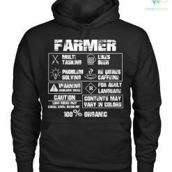 farmer 100% organic Hoodie/Tshirt %tag familyloves.com