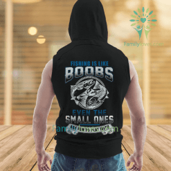 familyloves.com Fishing is like boobs new sleeve hoodies %tag