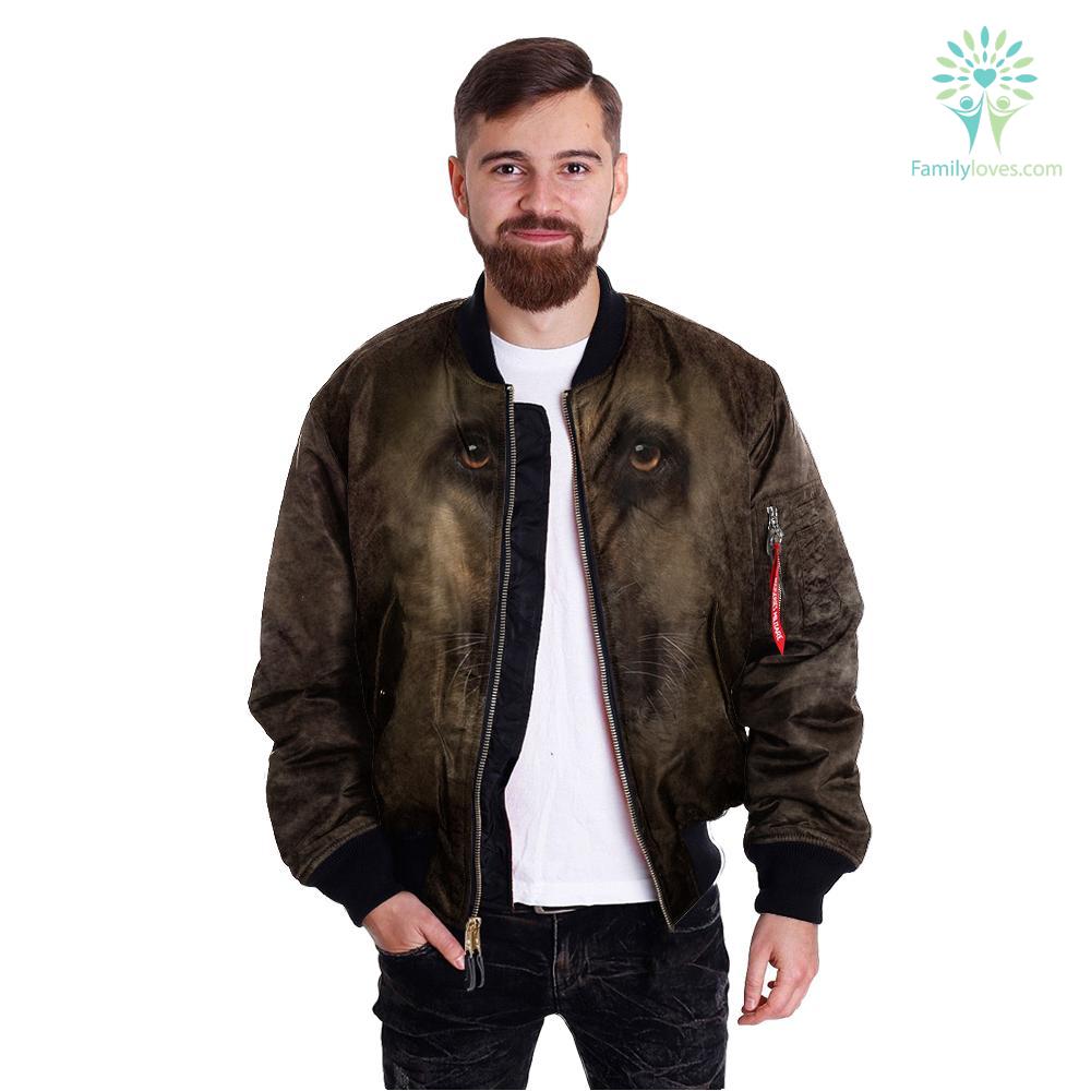 German Shepherd over print jacket %tag familyloves.com