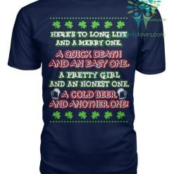 familyloves.com Here's to long life and a merry one...St. Patricks shirt, St. Patrick's Day shirt, St. Patricks day, St Pattys day shirt, Sizes S-5XL %tag