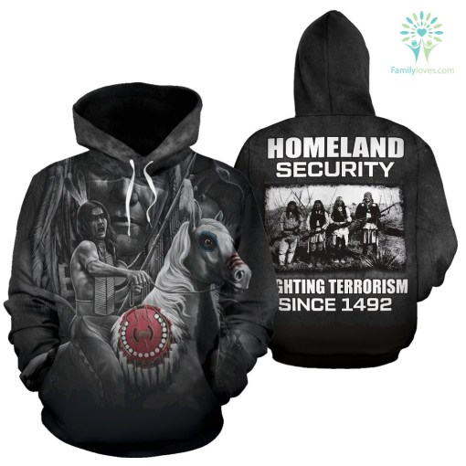 Fighting terrorism since 1492 Hoodie %tag familyloves.com