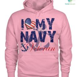 I love my navy veteran men, women t-shirt, hoodie %tag familyloves.com