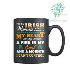I'M AN IRISH WOMAN I WAS BORN WITH? MY HEART-MUGS St. Patricks shirt, St. Patrick's Day shirt, St. Patricks day, St Pattys day shirt, Sizes S-5XL %tag familyloves.com
