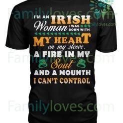 familyloves.com I'M AN IRISH WOMAN I WAS BORN WITH MY...St. Patricks shirt, St. Patrick's Day shirt, St. Patricks day, St Pattys day shirt, Sizes S-5XL %tag