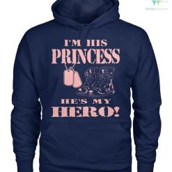 familyloves.com I'm his princess he's my hero women t-shirt, hoodie %tag