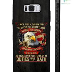 I once took a solemn oath to defend the constitution against all enemies Samsung, iphone case %tag familyloves.com