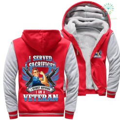 familyloves.com I served I sacrificed I regret nothing I am a veteran woman hoodie %tag