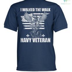 I walked the walk navy veteran? polo shirt %tag familyloves.com