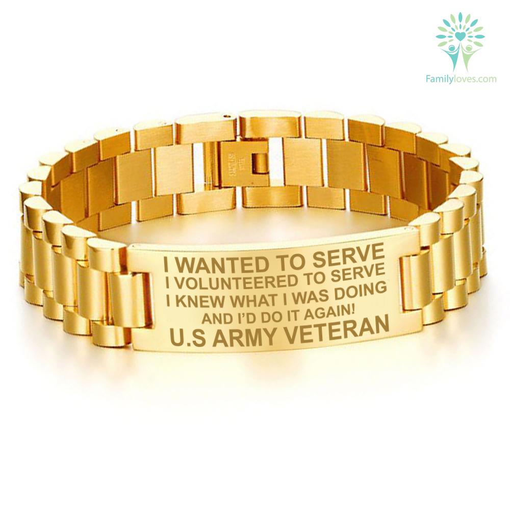 I WANTED TO SERVE...U.S ARMY VETERAN MEN'S BRACELETS Default Title %tag familyloves.com