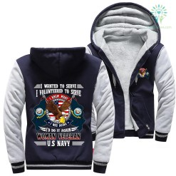 I wanted to serve. I volunteered to serve... woman veteran U.S Navy hoodie %tag familyloves.com