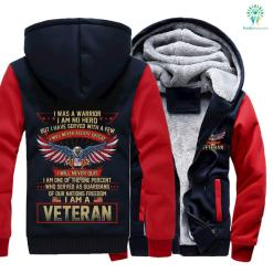I was a warrior I am no hero but I have served with a few I will never accept defeat... America veteran hoodie %tag familyloves.com