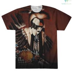 familyloves.com I was not born in America, America was born on my land I am a Choctaw over print t-shirt %tag