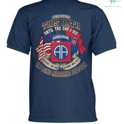 familyloves.com I will live by this oath until the day i die... 82nd Airborne Division? men's polo shirt %tag