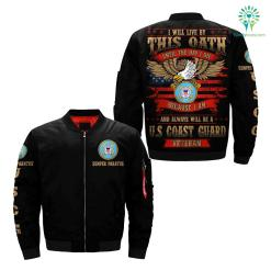i will live by this oath until the day i die because i am and always will be u.s coast guard veteran over print jacket %tag familyloves.com