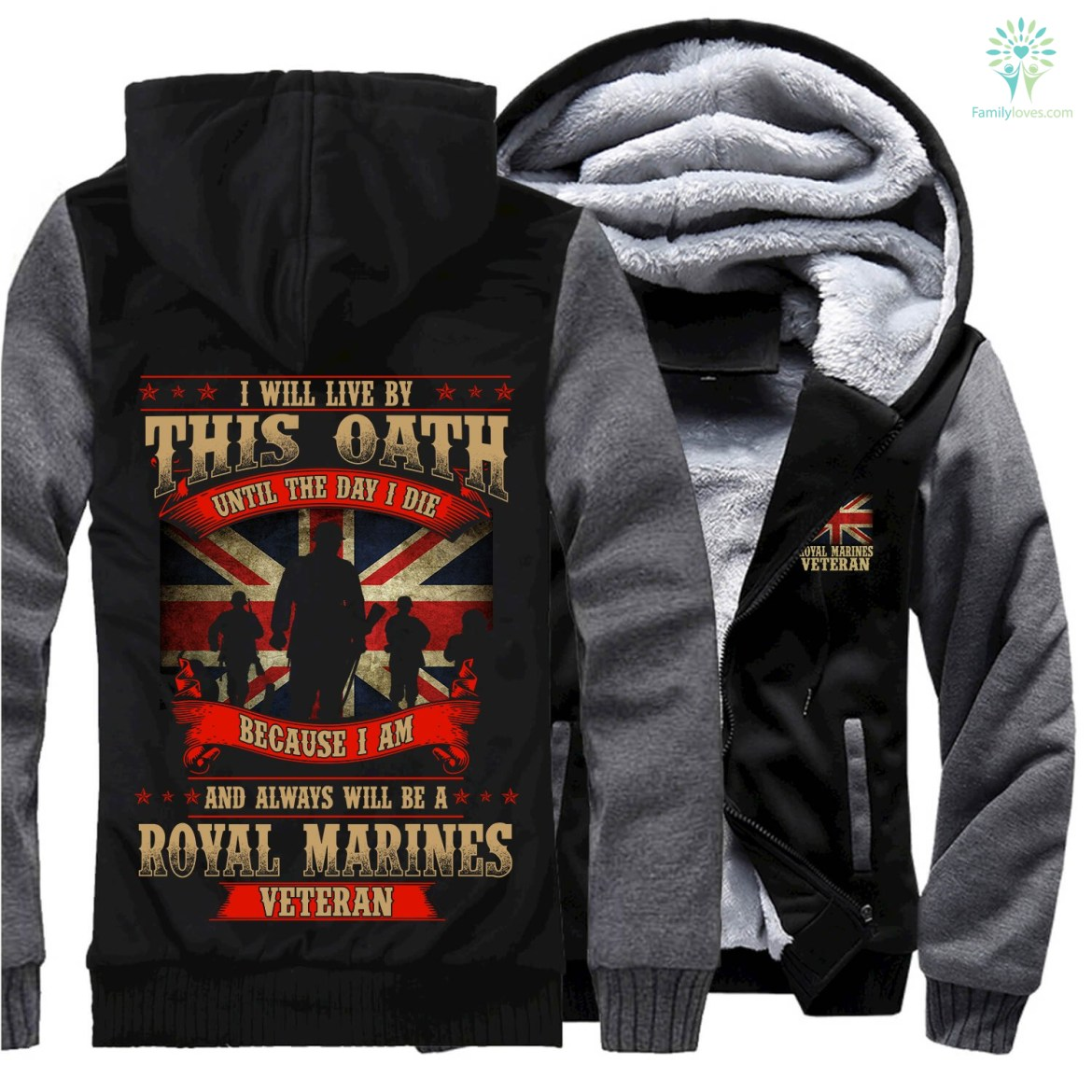 Buy I will live by this oath until the day I die because I am and always will be a Royal Marines veteran hoodie - Familyloves hoodies t-shirt jacket mug cheapest free shipping 50% off