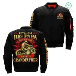 just call me big papa because i'm way to cool over print bomber jacket payment shipping %tag familyloves.com