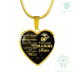 lOVE Him WITH EVERY BEAT OF Him HEART... PROUD MARINE MOTHER REAL 18K GOLD FINISH NECKLACE AND BANGLE Luxury Bangle (Gold) Luxury Bangle (Silver) Luxury Necklace (Gold) Luxury Necklace (Silver) %tag familyloves.com