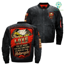 love is the feeling you get when you like something as much as your motorcycle OVER PRINT JACKET payment shipping %tag familyloves.com