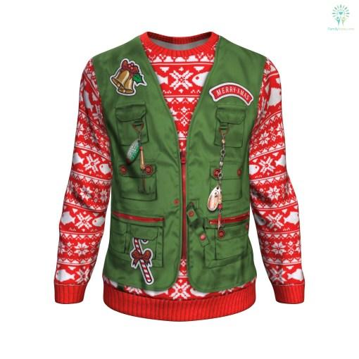 Merry Fishmas UGLY CHRISTMAS SWEATER %tag familyloves.com
