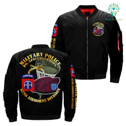 Military Police HQ, Special Troops 82nd Airborne Division over print jacket %tag familyloves.com
