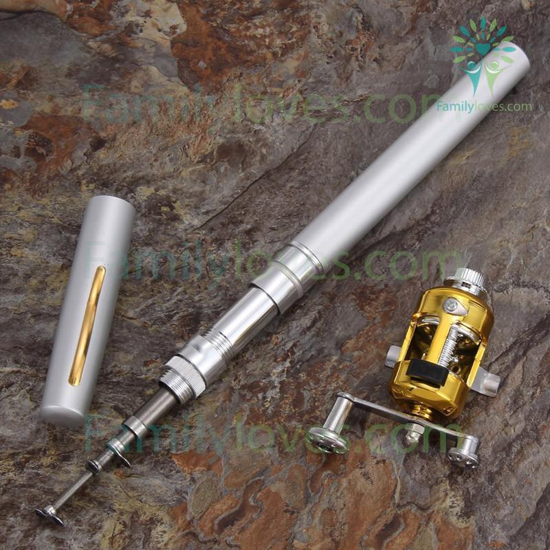 Mini Portable Pocket Fish Pen Aluminum Alloy Fishing Rod %tag familyloves.com