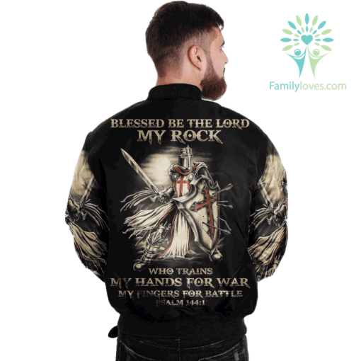 JESUS BLESSED BE THE LORD MY ROCK Over Print Jacket %tag familyloves.com