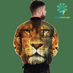 JESUS BRIGHT SIDE 3D Over Print Jacket %tag familyloves.com