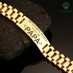 familyloves.com My Favorite people call me papa-men bracelets %tag