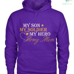 My son my soldier my hero army mom women t-shirt, hoodie %tag familyloves.com