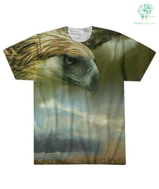 NATIVE AMERICAN EAGLE ART OVER PRINT T-SHIRT %tag familyloves.com