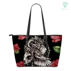 familyloves.com Native American Lion Dreamcatcher Small Leather Bags %tag