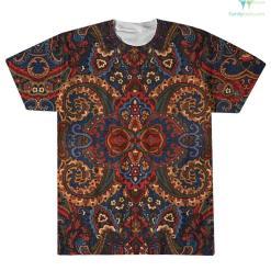 familyloves.com Native American Pow Wow Dancer Over Print T-Shirt %tag