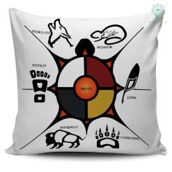 familyloves.com Native American Seven Sacred Grandfather Teachings Pillow %tag