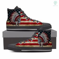 familyloves.com Native american skull shoes for men %tag