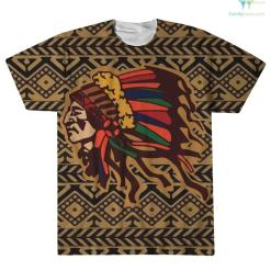 familyloves.com Native American Sweater Over Print T-Shirt %tag