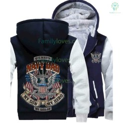 NAVY DAD MY SON MY HERO MY SAILOR HOODIE %tag familyloves.com