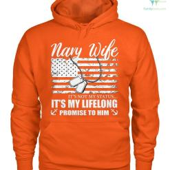 familyloves.com Navy wife it's not my status... it's my lifelong promise to him women t-shirt, hoodie %tag