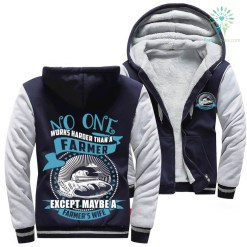 No one works harder than a farmer except maybe a farmer's wife woman hoodie %tag familyloves.com
