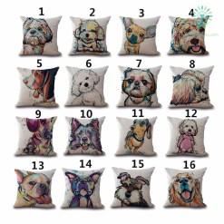 Pet Style Cartoon dog Printing Cover Pillow %tag familyloves.com