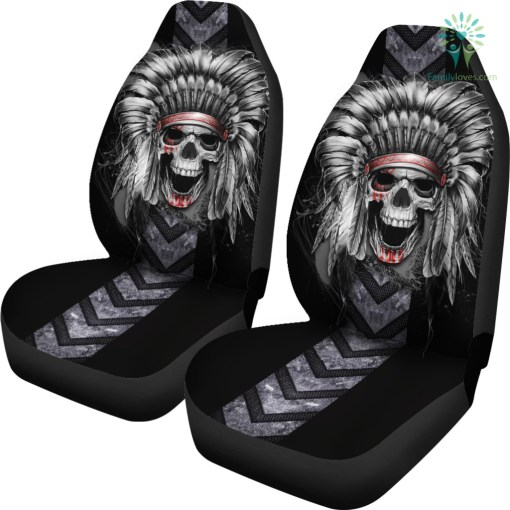 Skull Native America Car Seat Cover %tag familyloves.com