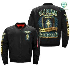 Special Forces (United States Army) De Oppresso Liber, 1st Special Forces Command over print jacket - 4XL, Over Print %tag familyloves.com