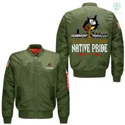 Still here still strong Native Pride printed jacket %tag familyloves.com