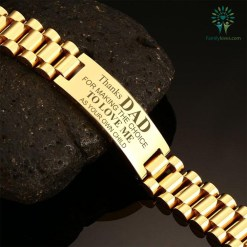 familyloves.com Thanks Dad for making the choice to love me as your own child-men bracelets %tag
