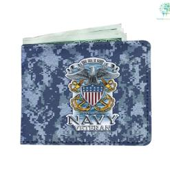 The sea is ours United States Navy veteran Men's Wallet %tag familyloves.com