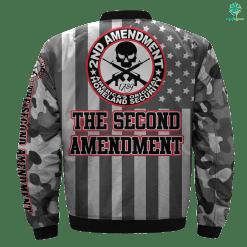 THE SECOND AMENDMENT OVER PRINT BOMBER JACKET %tag familyloves.com