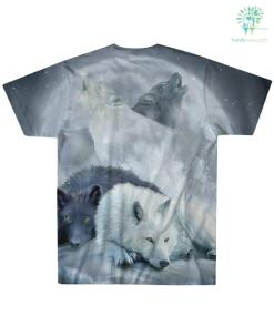 familyloves.com THE WOLF NATIVE AMERICAN OVER PRINT T-SHIRT %tag